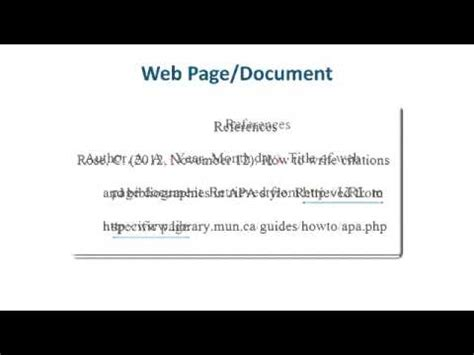 apa style format youtube video apa style reference list how to reference websites youtube