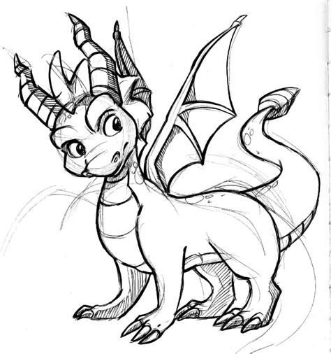 coloring pages of spyro the dragon friendly dragon coloring pages