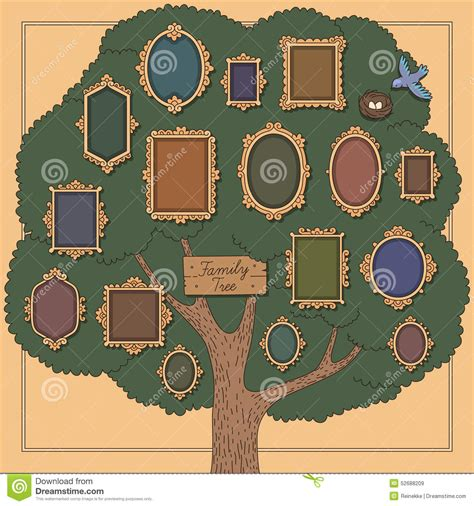 Family Tree Stock Vector Image 52688209 Family Tree Template Vintage Vector Illustration Stock Vector 674744272