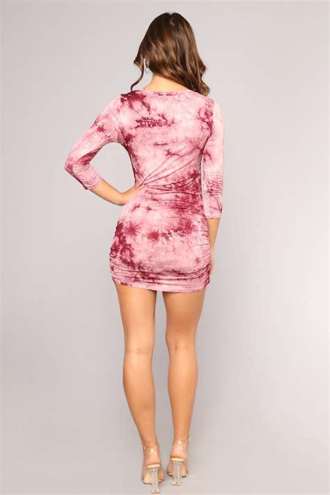 Tanika Dress tanika tie dye dress burgundy