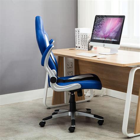 flip it computer desk gaming office chair racing bucket high back ergonomic