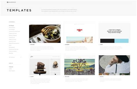 How To Create A Beautiful Portfolio Website With Squarespace Sitepoint Squarespace Templates For Photographers