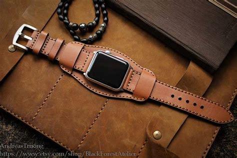 handmade leather cuff band for apple gadgetsin