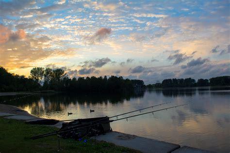stock photo  carp fishing carpfishing night fishing