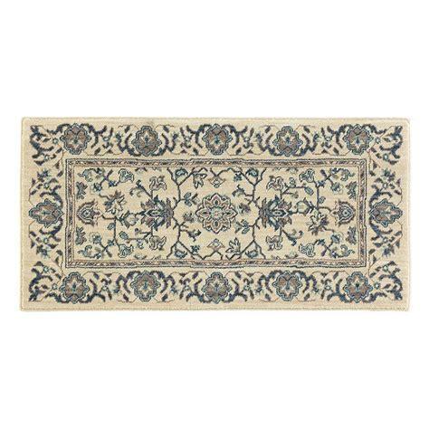 scatter rug home decorators collection jackson blue ivory 2 ft x 4 ft scatter rug 509323 the home depot