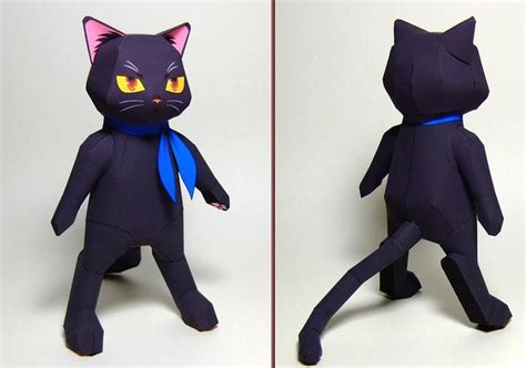 Black Cat Papercraft - black anime cat papercraft papercraft paradise