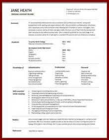 Personal Assistant Resume Exles by Personal Assistant Resume Sle The Best Letter Sle