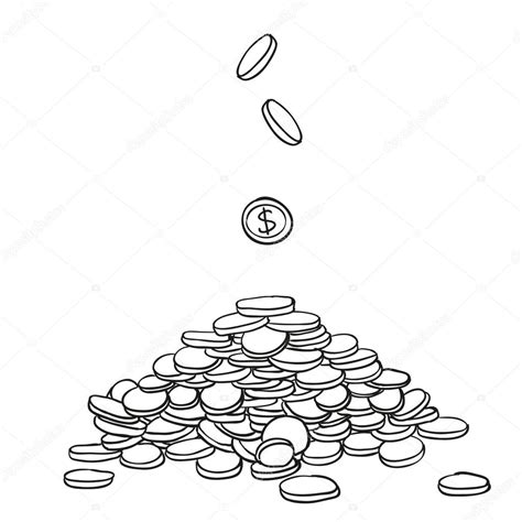 doodle coins pile of money doodle coins stock vector 169 volodmar