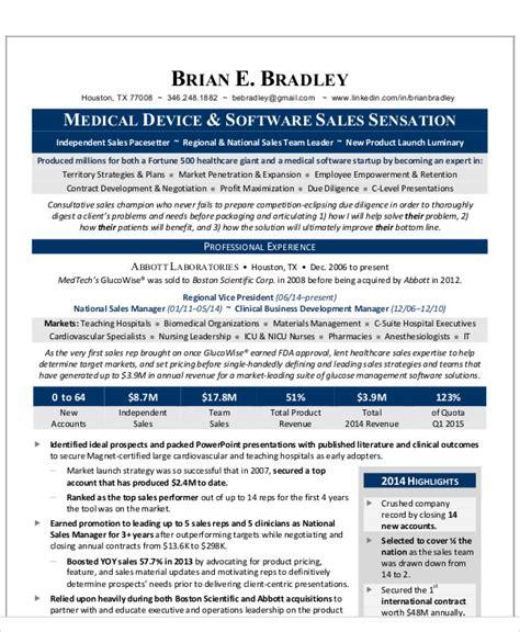 27 sales resume templates in pdf free premium templates