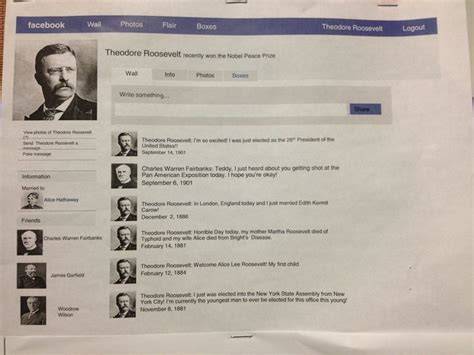 biography facebook project create a biography as a facebook profile reading pinterest