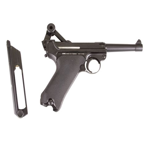 luger pistol airsoft gun kwc luger p08 full metal 6mm airsoft pistol