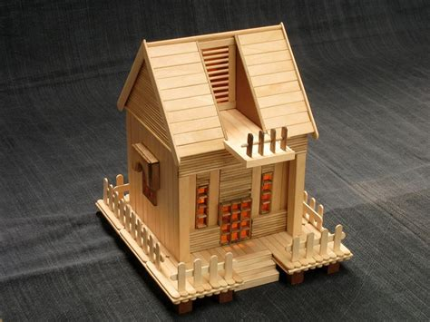 crafty house popsicle stick crafts house images