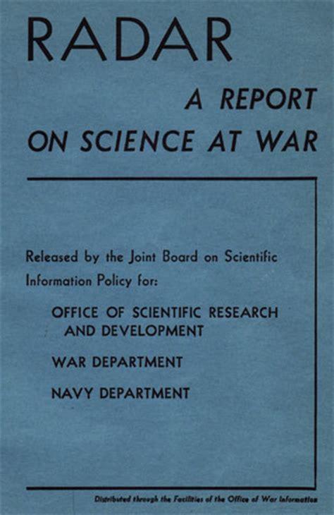 hyperwar radar a report on science at war
