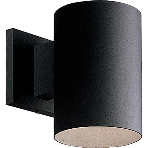 Black Wall Sconces Progress Lighting 1 Light Black Wall Lantern P5674 31 The Home Depot