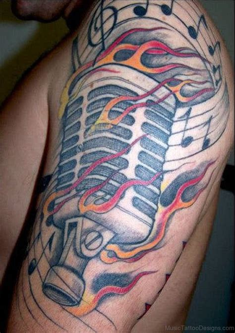 music mic tattoo designs 50 best tattoos on shoulder