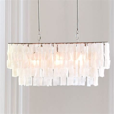 Rectangular Capiz Shell Chandelier Large Rectangle Hanging Capiz Pendant Style Pendant Lighting By West Elm