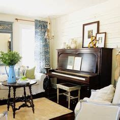 Living Room With Piano Design by Upright Piano Decor On