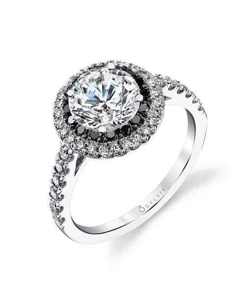 lbd   black diamond engagement ring