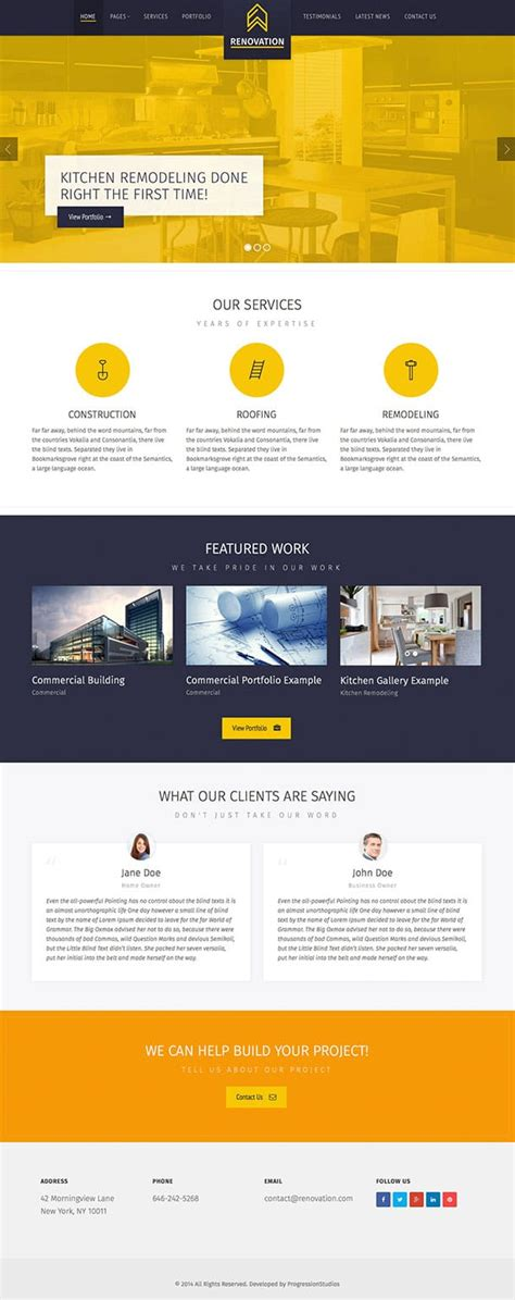 renovation theme 25 best construction company wordpress themes 2018 athemes