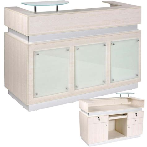Spa Reception Desk Eurostyle Nail Salon Reception Desk Soft Ivory Color Model Mkg 867