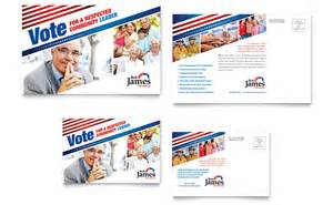 political campaign postcard template word amp publisher