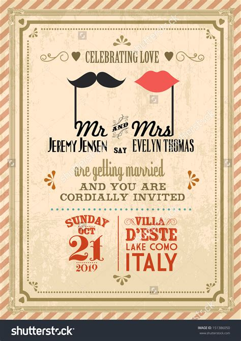 Your Wedding Invitations by Vintage Wedding Invitation Templates Theruntime