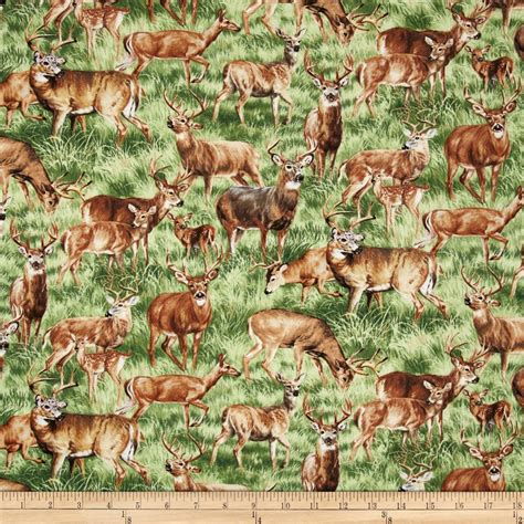 elk pattern fabric american wildlife deer multi discount designer fabric