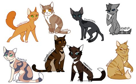 cats designs even more warrior cats design by drakynwyrm on deviantart