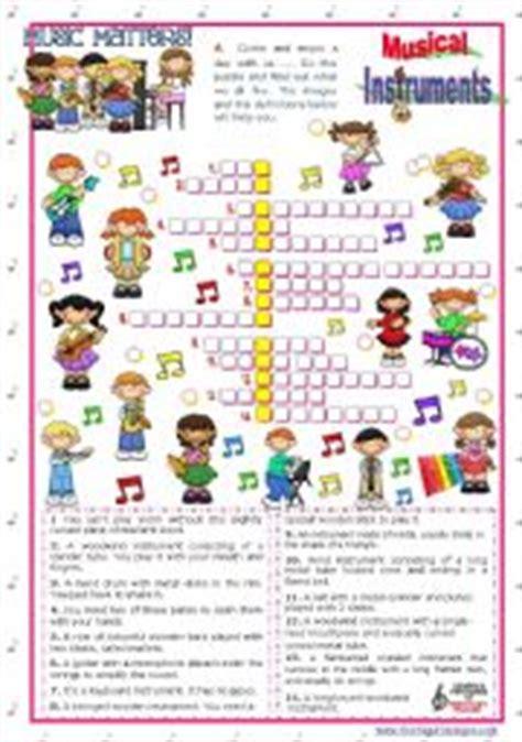 musical instruments crossword puzzle worksheet answers quot matters quot 3 crossword puzzle with instruments workheet n 380548