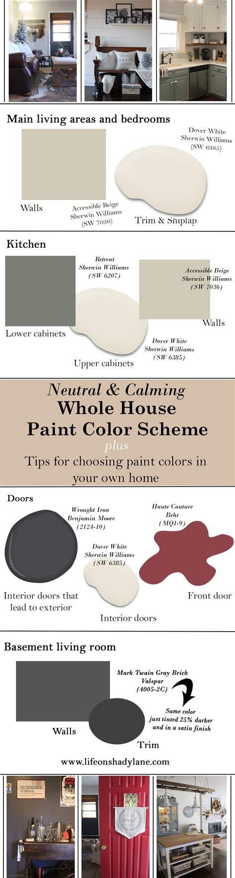 the paint colors we used in our home my tips on picking colors for your own home on