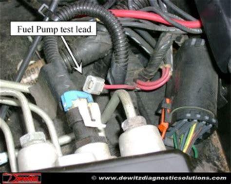 oldmobile bravada    fuel pressure  fuel pump