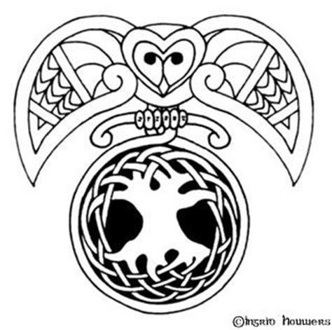 celtic owl and moon by tattoo design on deviantart celtic owl tree of life