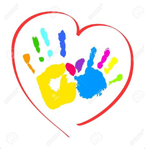 child care clipart handprint clipart daycare building pencil and in color