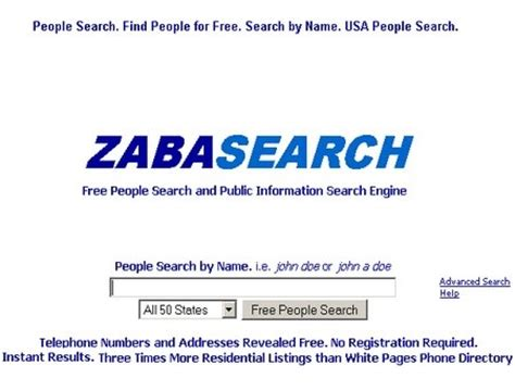 Free Information On Search Engines World Breaking News Zabasearch Free Search