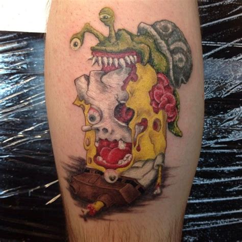 chinos tattoo shop spongebob square by ricky at the