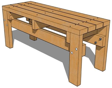bench drawings 2x4 bench seat plans woodworking projects plans
