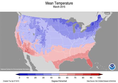 us weather map in march national climate report march 2015 march temperature