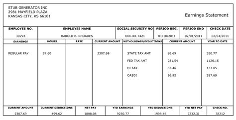 Free Payroll Template Helloalive Payroll Paycheck Stub Template