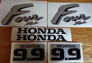 Honda 9 9 Sticker by Honda 9 9 Outboard Motor Cowl Decals Stickers Graphics