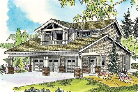 Garage House Plan by Bungalow Garage With Guest Apartment 72649da