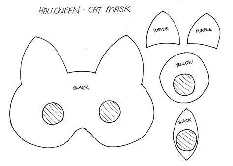 cat mask template stylenovice diy cat mask template