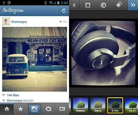 instagram on android instagram for android cool material