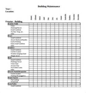 Sample maintenance checklist template 9 free documents in pdf