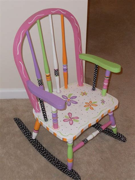 Painted Childrens Chairs by Childs Painted Rocking Chair By Impressionsbysusan On
