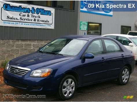Kia Spectra New 2009 Kia Spectra Ex Sedan In Blue Metallic