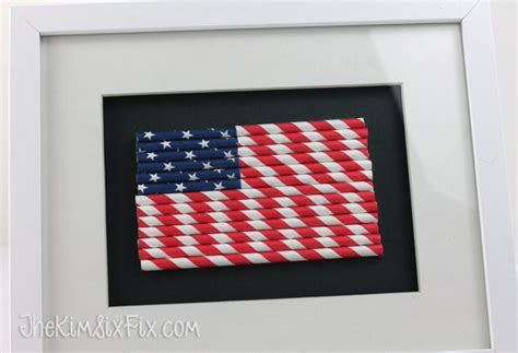 How To Make A Flag Out Of Paper - paper straw american flag the six fix