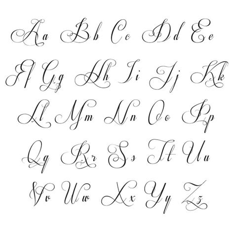 pretty tattoo fonts 25 best ideas about lettering alphabet on