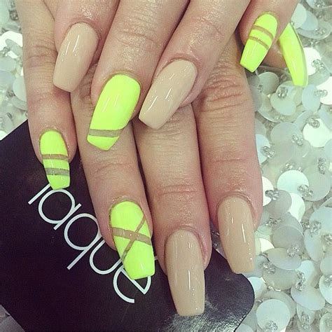 neon nails ideas  pinterest fun nails summer