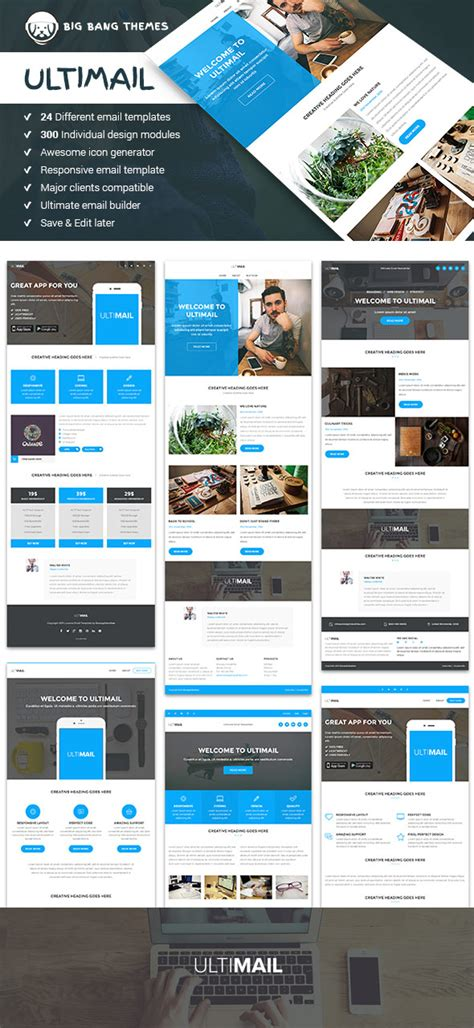 20 responsive email newsletter templates for your next