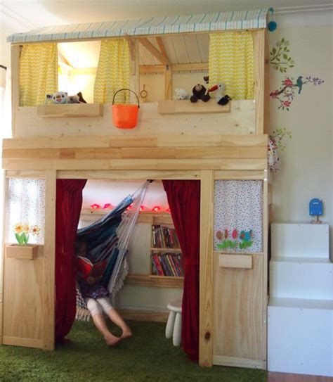 bunk bed with stairs ikea a reading nook playhouse ikea hack mydal bunk bed trofast storage as stairs k i d s r o o m